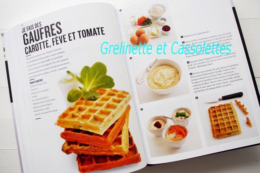 Gauffres de Carottes, Fèves et Tomates