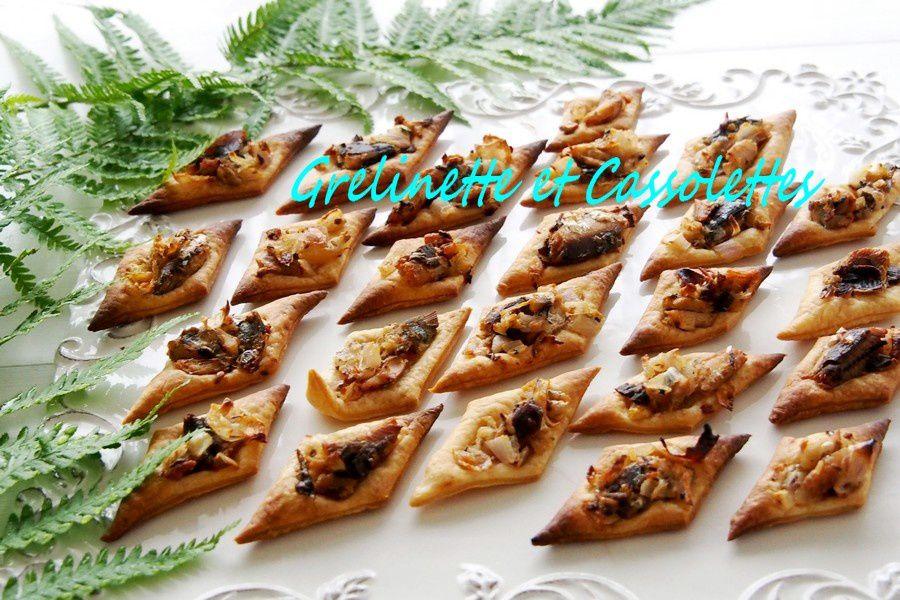 Tartelettes aux Echalotes et aux Sardines
