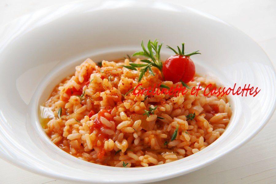 Risotto à la Tomate et à la Sarriette