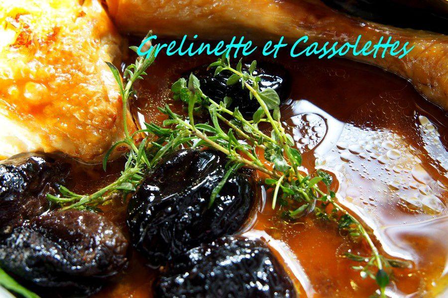 Jus du Poulet aux Pruneaux et au Cognac