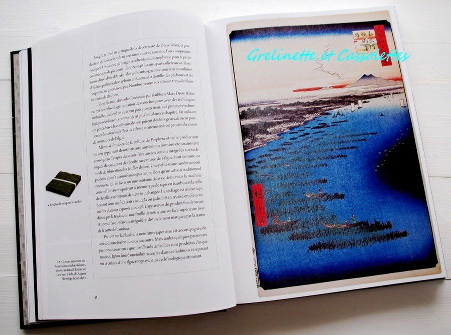 La culture des algues Nori décrite par Hokusai