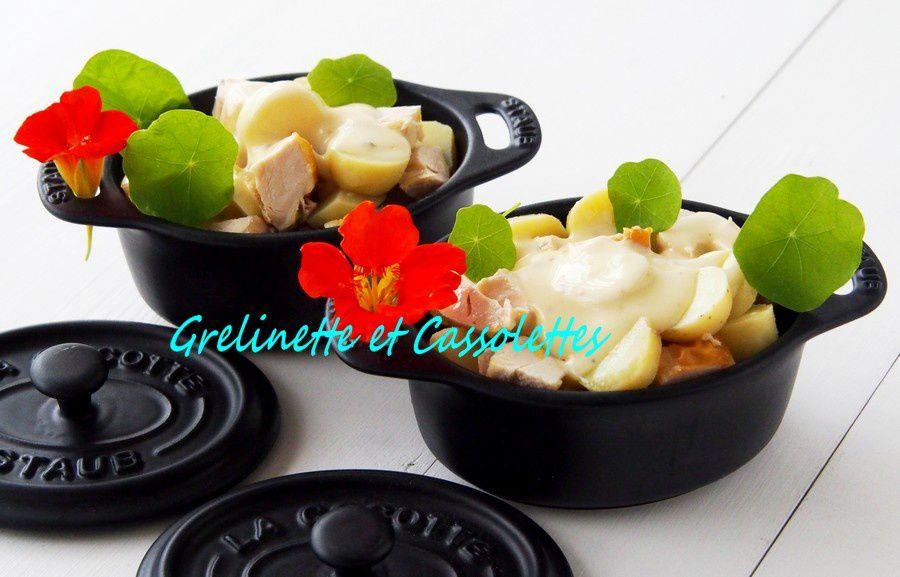 Cassolettes au Poulet et à la Cancoillotte aux Morilles