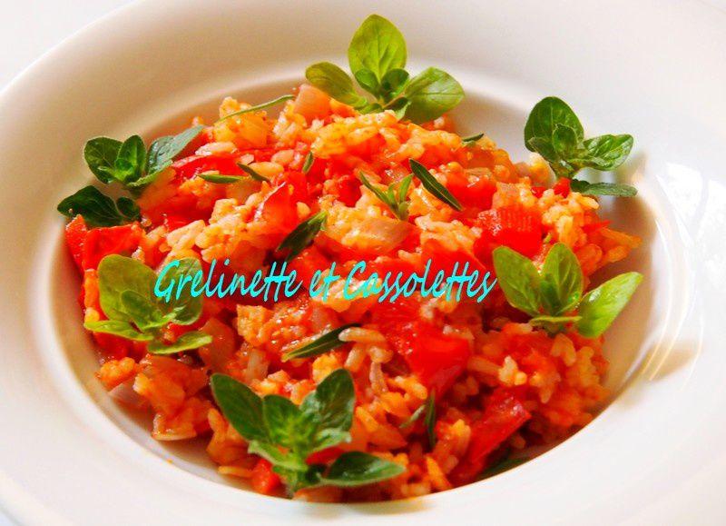 Riz à la Tomate à la Sarriette et à l'Origan