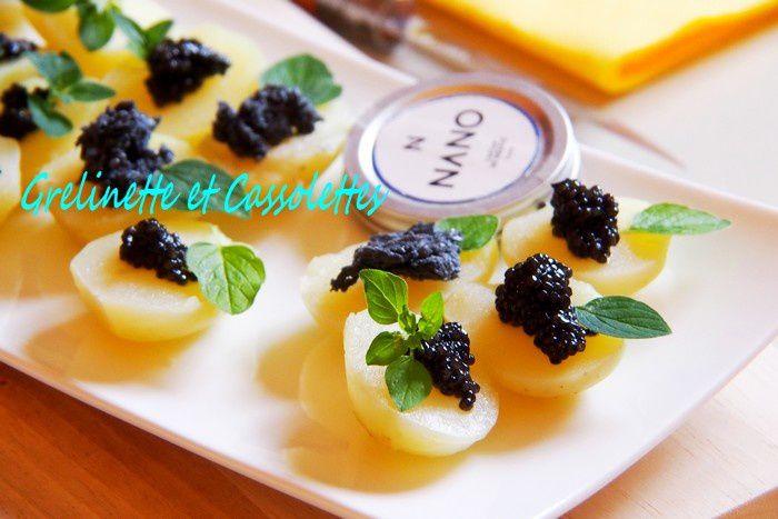 Bouchées de Grenaille AOP de l'Ile de Ré et Caviar de Neuvic