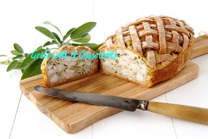 Pâté de Poulet en Croûte aux Pistaches et à la Sauge