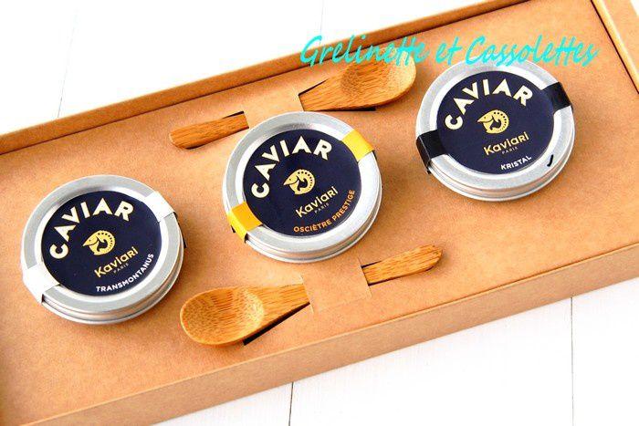 Dégustation Caviar Turbot avec le coffret Kaviari &quot&#x3B;Trio de Noël&quot&#x3B;