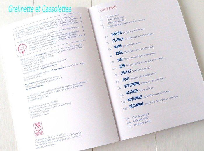 Calendrier Lunaire Jardin Avril 2020.L Agenda 2020 Du Jardinier Bio Grelinette Et Cassolettes