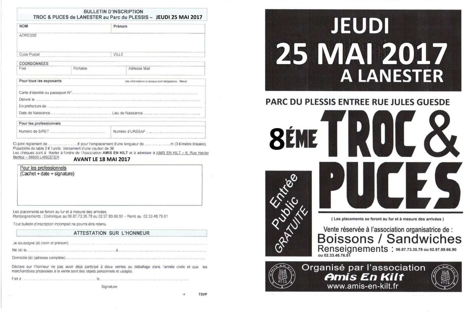 Associations calendrier des manifestations