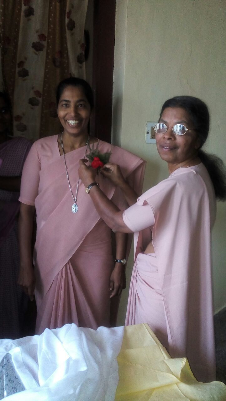 Sr.Sherly and Sr.Chinnama