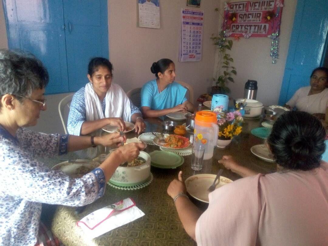 Sr.Cristina at the Community of Panakahalli