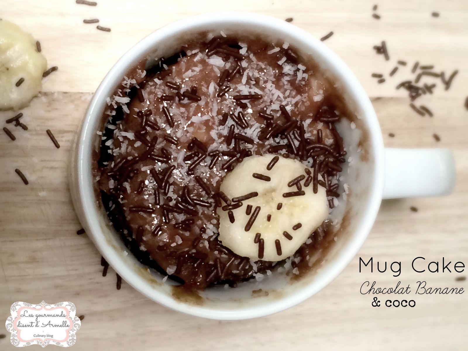 mug cake chocolat banane coco. Black Bedroom Furniture Sets. Home Design Ideas