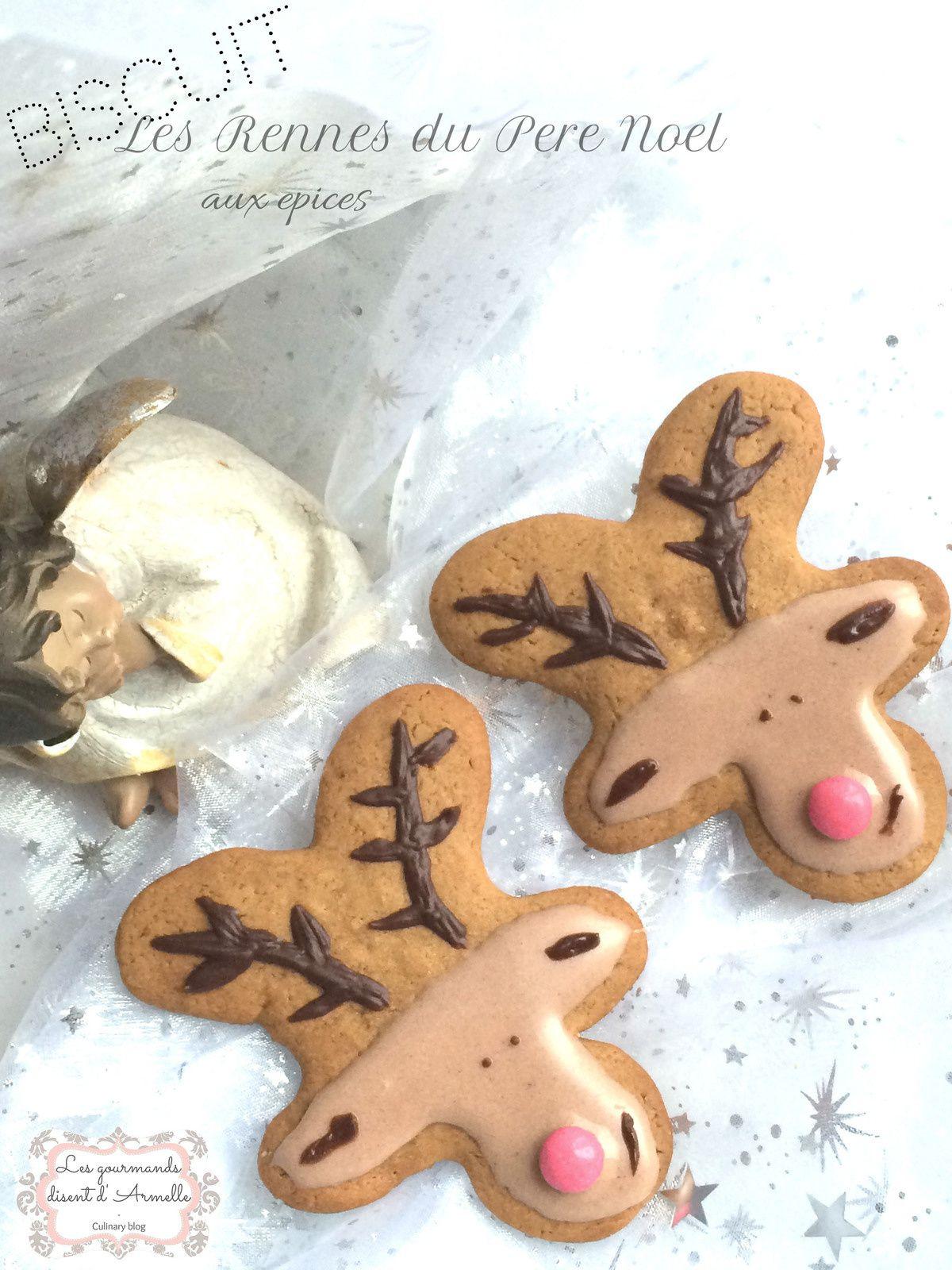 | Les rennes du Père Noël aux épices |variante du bonhomme au pain d'épices
