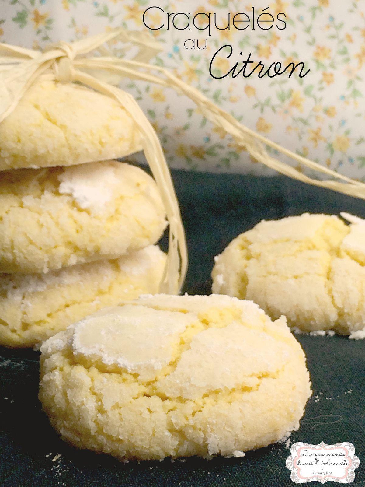 | Craquelés au citron | Crinkles  © Les Gourmands {disent} d'Armelle