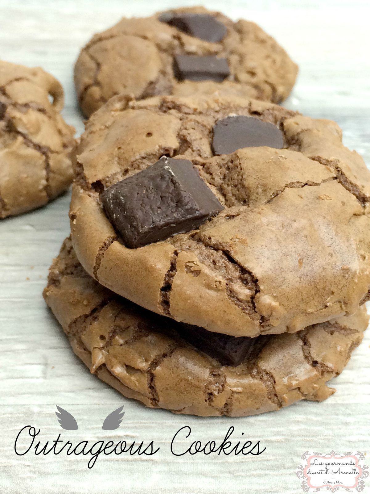 | Outrageous Cookies Chocolate de Martha Stewart | © Les Gourmands {disent} d'Armelle