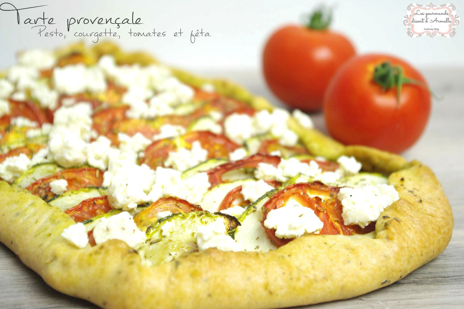 | Tarte provençale | Pesto, courgette, tomates et feta