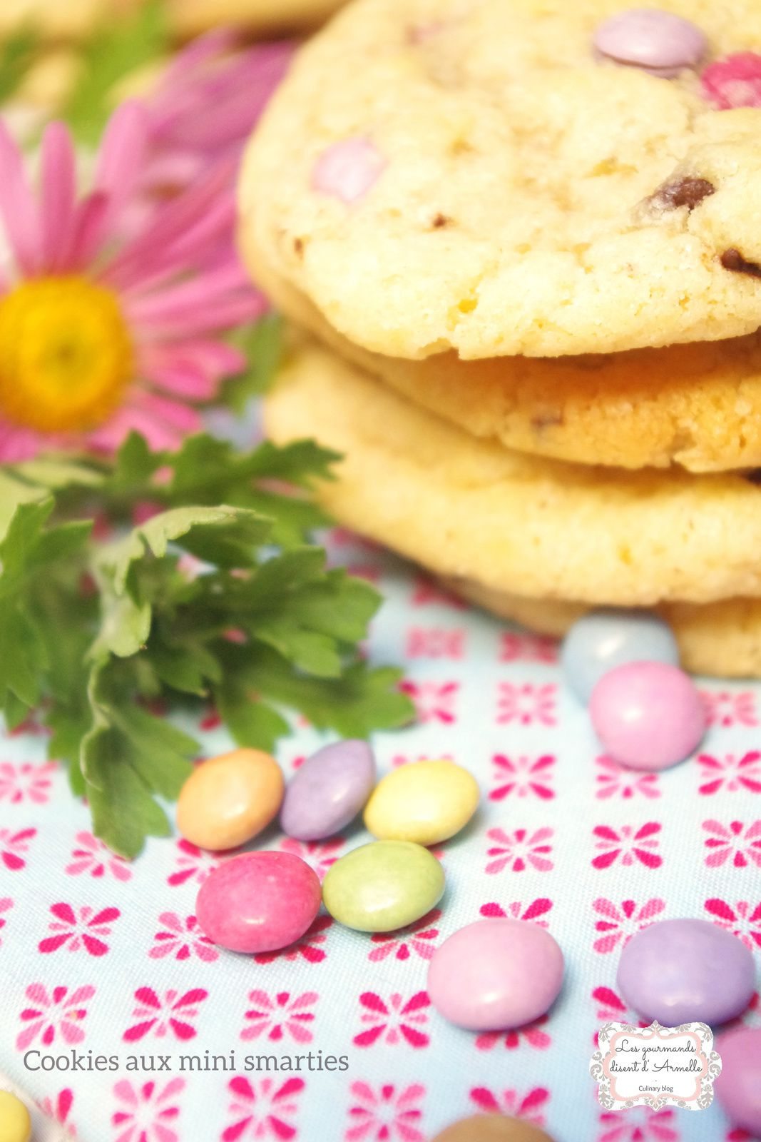 | Cookies aux mini smarties | © Les Gourmands {disent} d'Armelle
