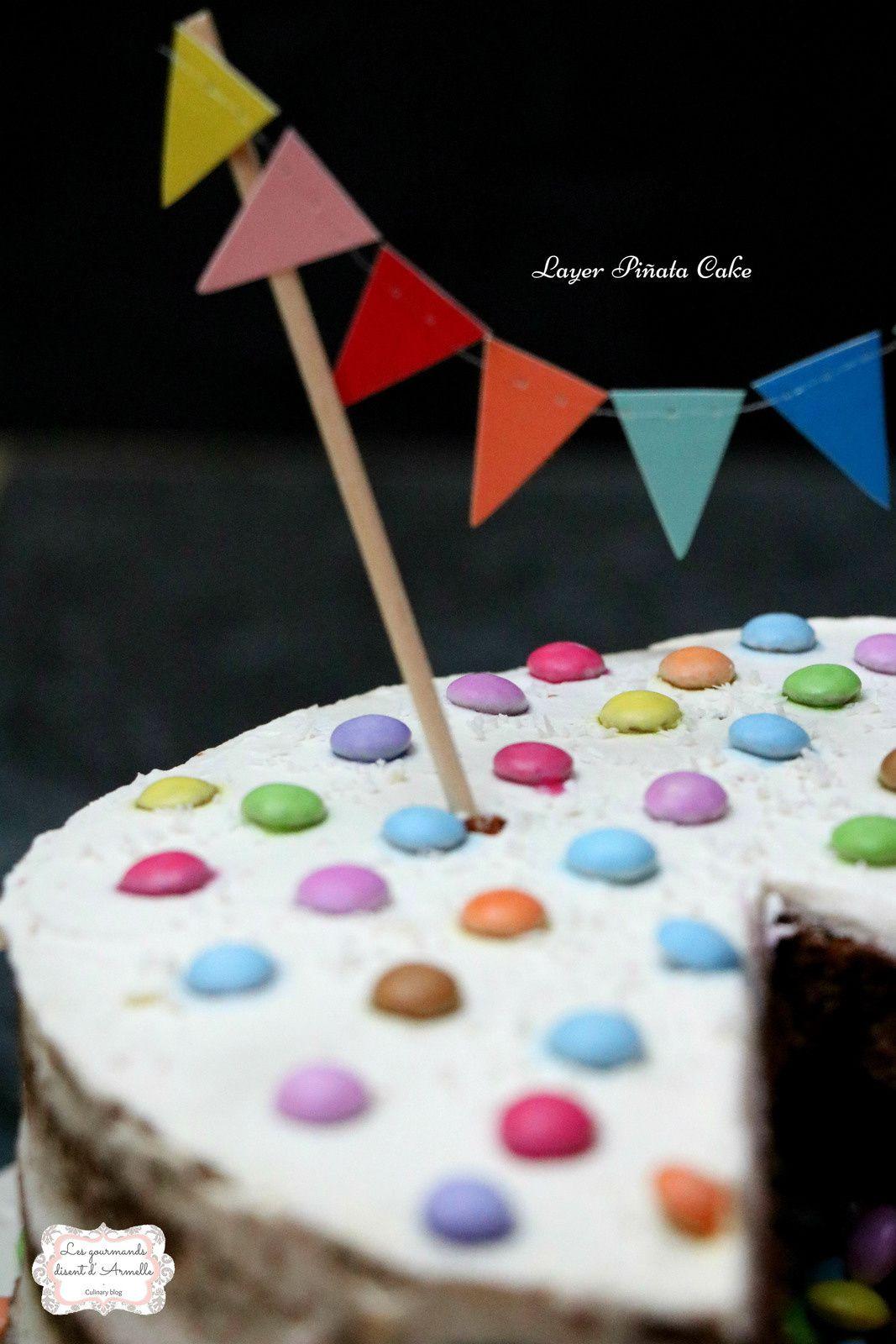 | Layer Piñata Cake | Chocolat et Coco  © Les Gourmands {disent} d'Armelle