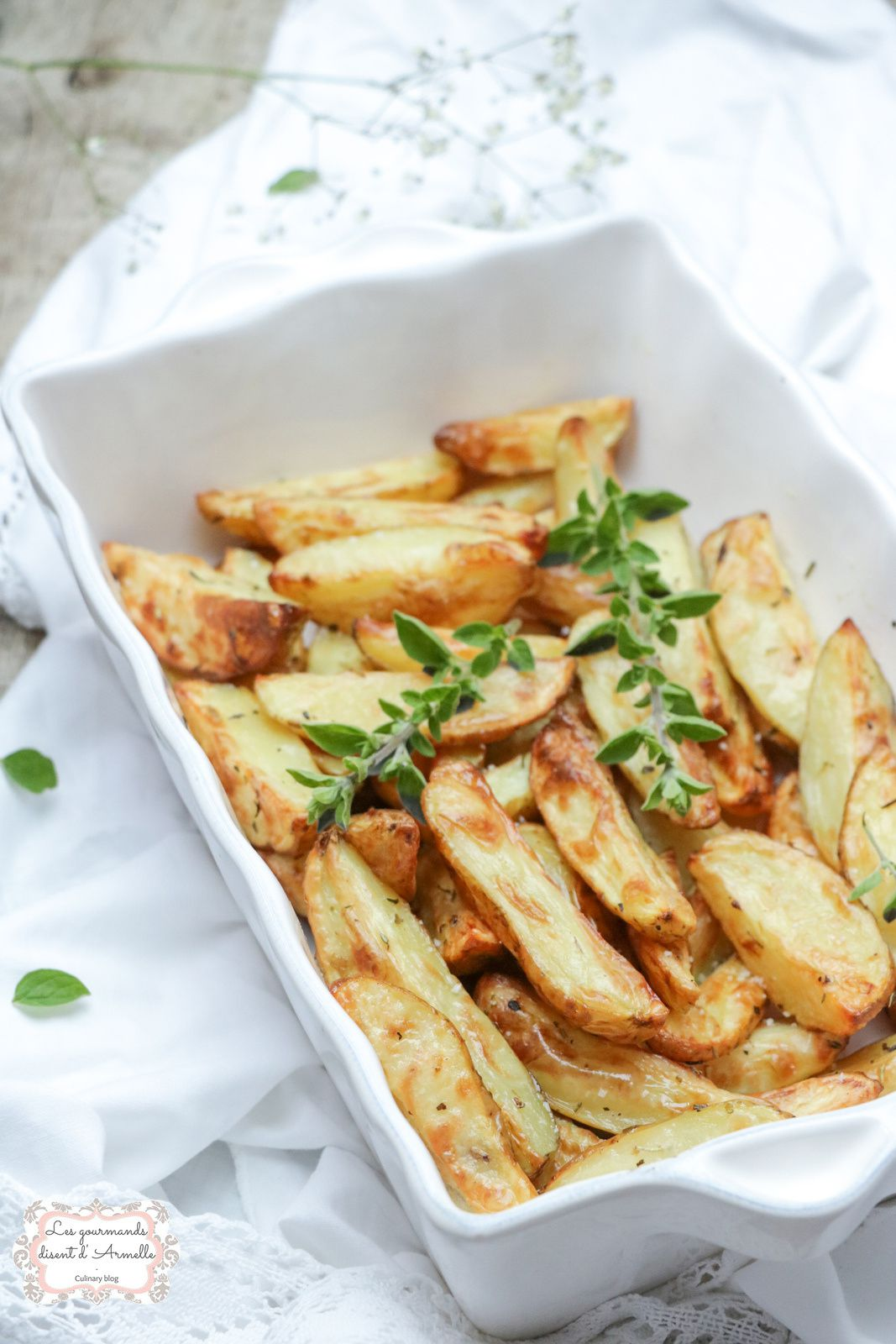 Potatoes à la fleur de sel et au thym @ Les Gourmands {disent} d'Armelle