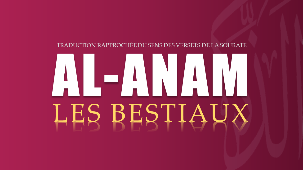 Tr. Sourate 6 : LES BESTIAUX (AL-AN'AM)