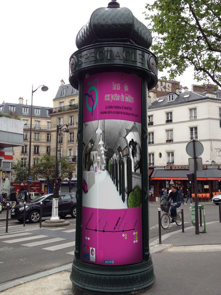 L'affiche sur une colonne Morris