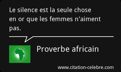 Une collection de proverbes d'Afrique sur le Genre
