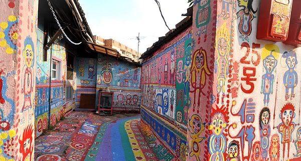 Rainbow Village, Le village Arc-en-ciel, Taichung, Taïwan, lieu insolite