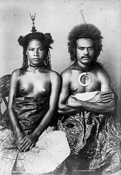 Un couple de Fidjien en 1884
