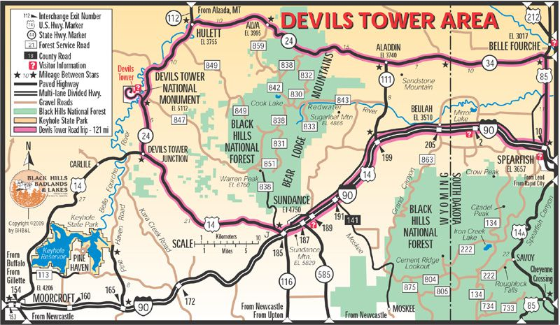 La Tour du Diable, The Devil Tower National Monument, USA