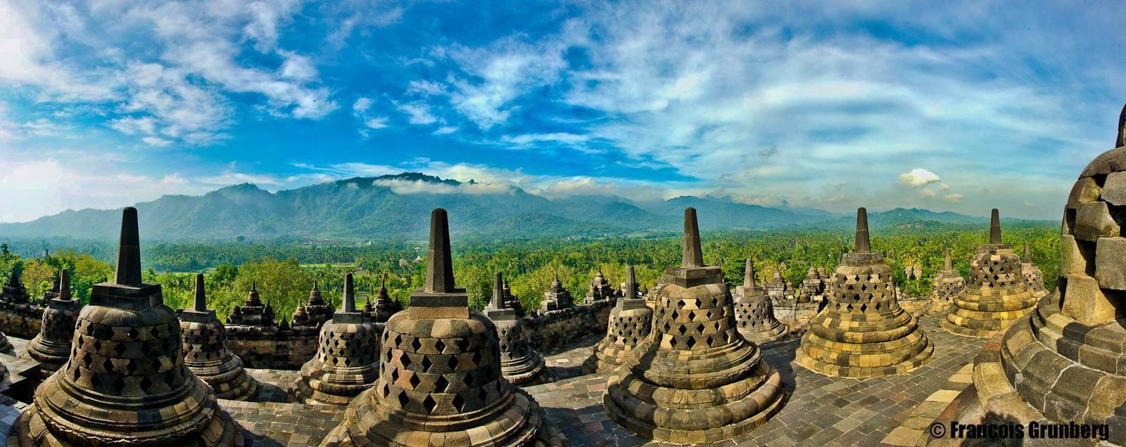 Borobudur, Temple bouddhiste incroyable, Java, Indonésie