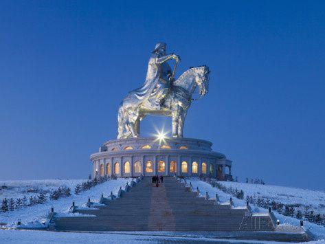 La statue de Genghis Khan, la plus grande statue équestre au monde, Mongolie