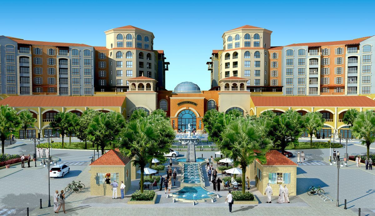 1. Quartier Abraj 2. Médina Centrale 3. Qanat Quartier  .... source : http://www.qhomes.com.qa/pages/the-pearl