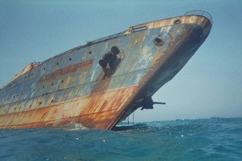 L'American star, paquebot abandonné, îles Canaries