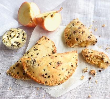 Minichaussons de pommes et de chocolat