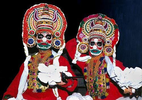 Le festival Mudiyettu, théâtre indien, Inde