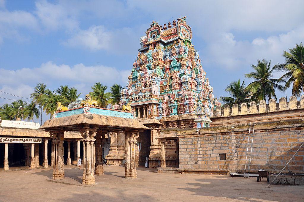 Le temple de Sri Ranganathaswamy, Srirangam, Inde