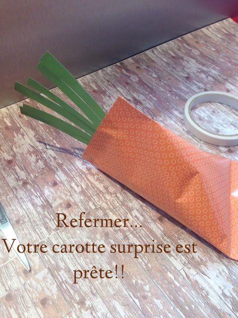 Carotte surprise pour Pâques