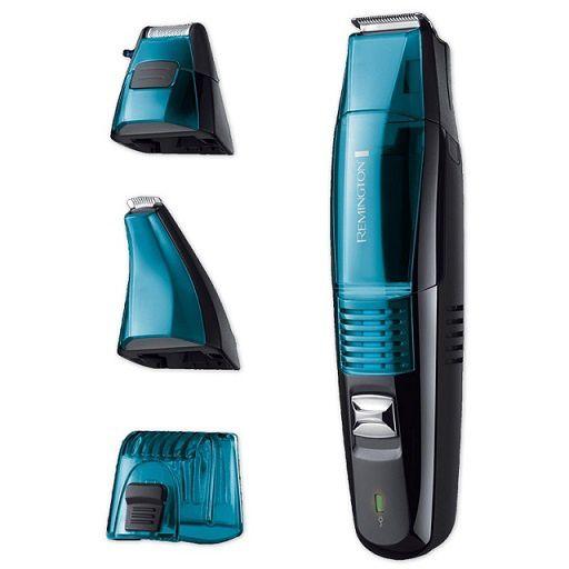 tondeuse à barbe vacuum Remington avec système d'aspiration