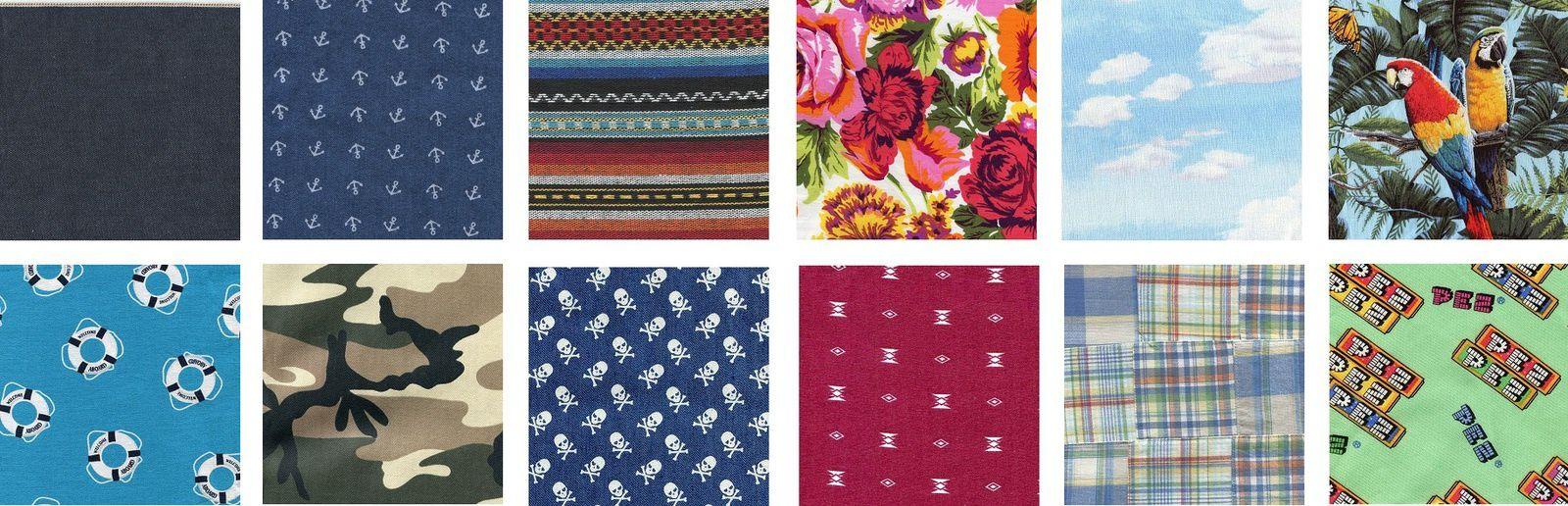 Quelques exemples de motifs, retrouvez l'intégralité des tissus proposés dans le catalogue en fin d'article.