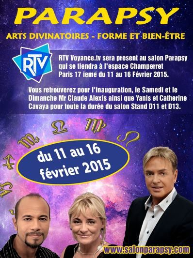 Ma participation au salon parapsy du 11 au 16 f vrier 2015 for Salon porte de champerret studyrama