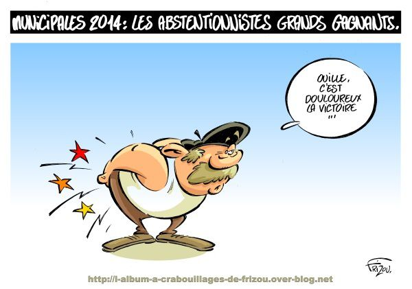 Municipales 2014, l'abstention bat son record.