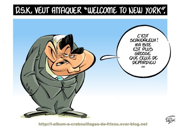 DSK va porter plainte contre « Welcome to New York ».