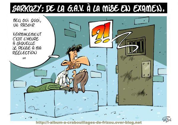 Sarkozy : garde à vue, mis en examen, p… ?