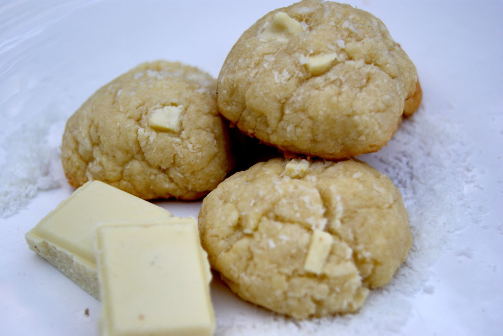 Cookies coco et chocolat blanc