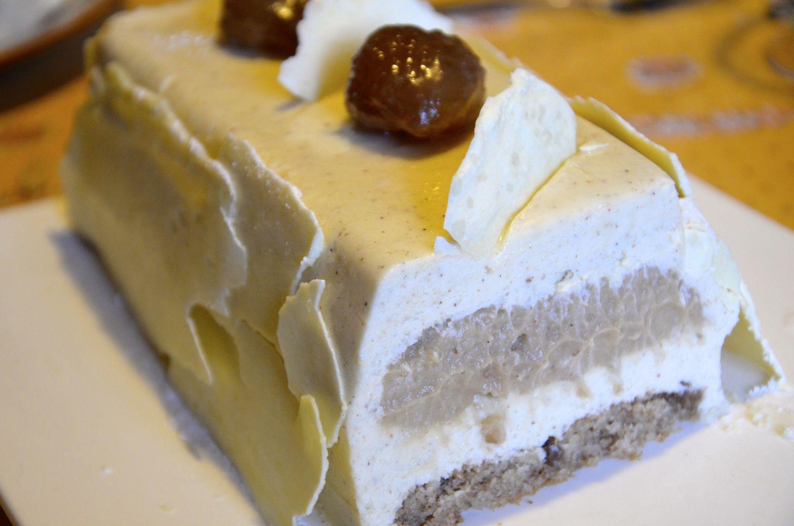 B che vanille marron la p 39 tite cuisine de pauline for Buche de noel chocolat marron