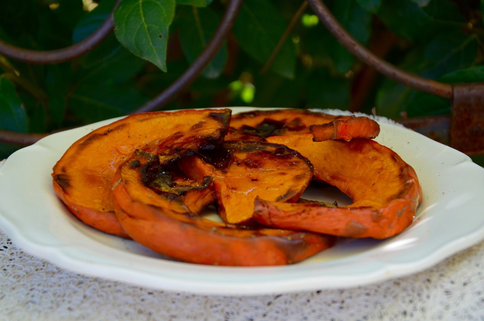 Potimarron grillé à l'huile de noix