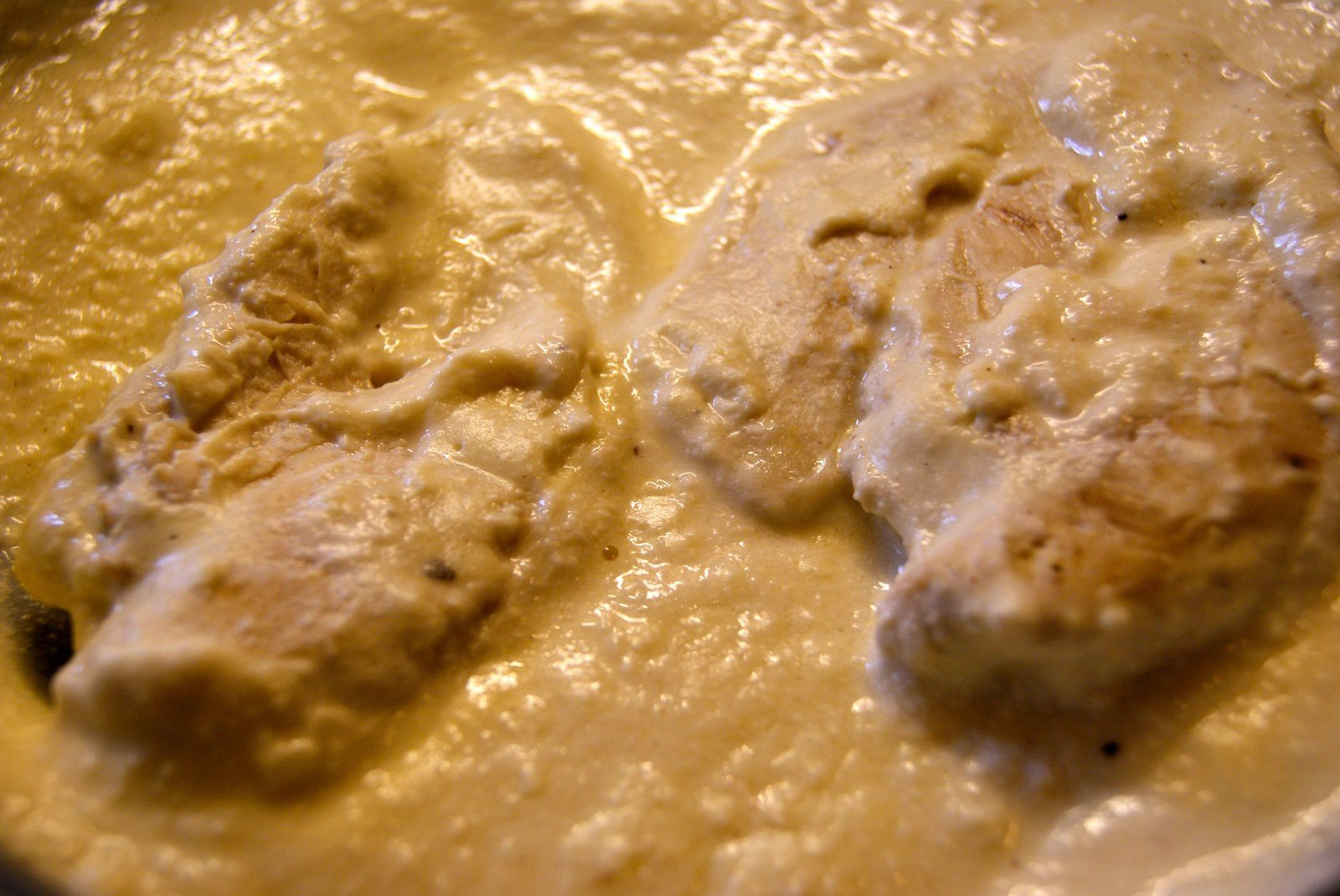 Escalopes de poulet à la moutarde