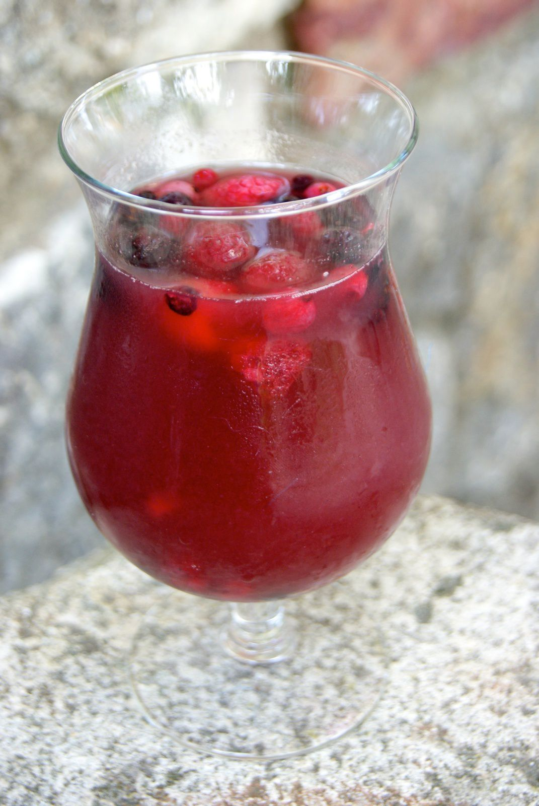 Cocktail rosé - fruits rouges