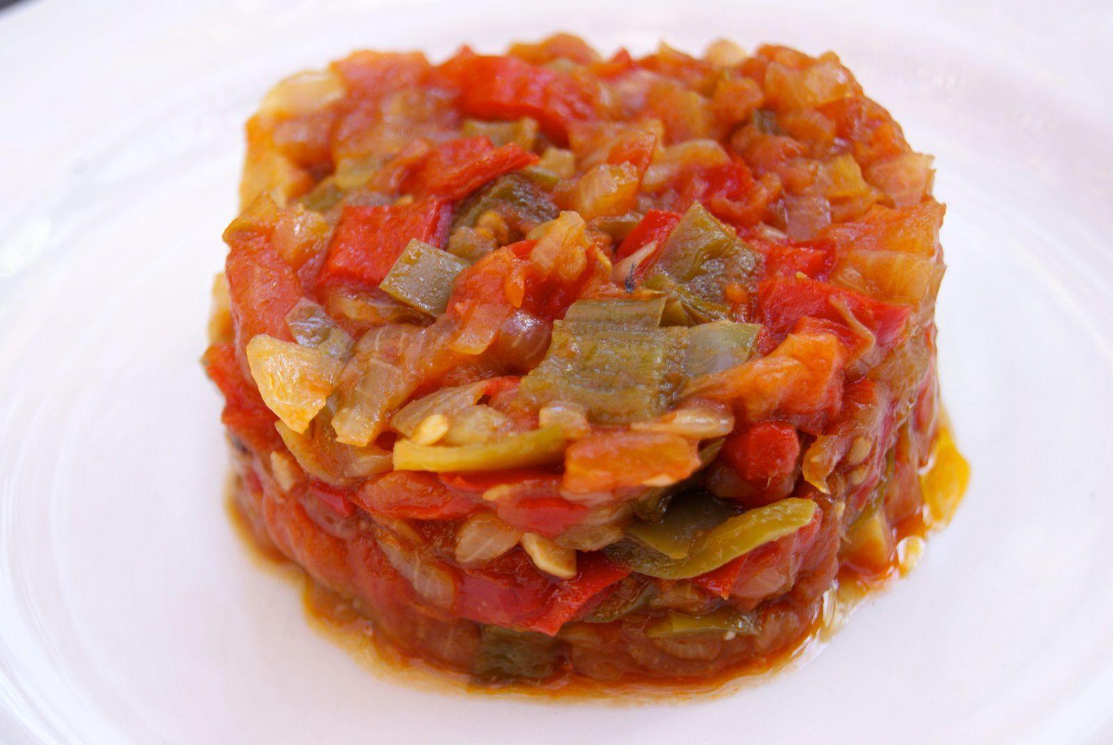Fondue de poivrons et tomates