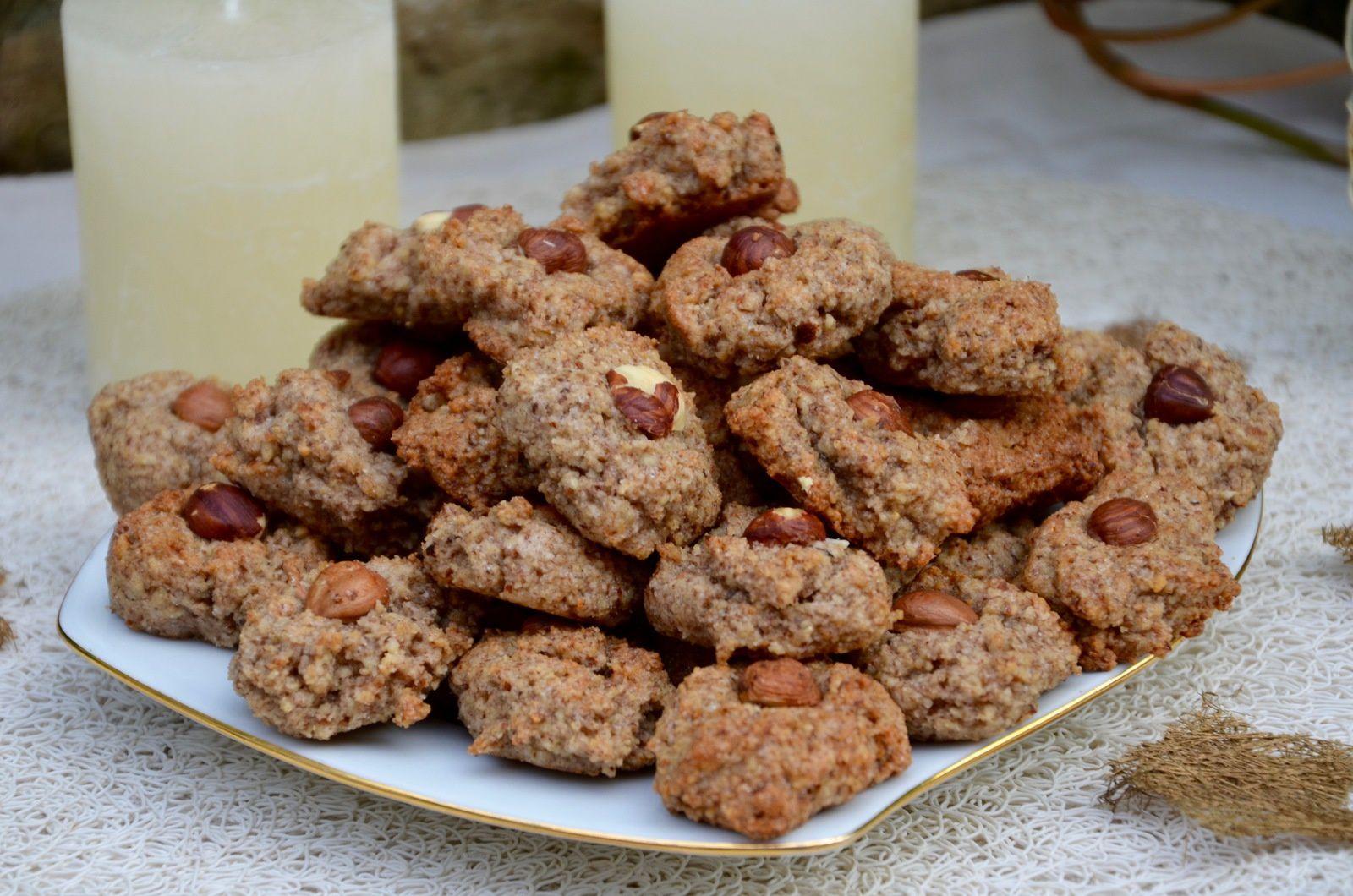 Macarons rustiques aux noisettes