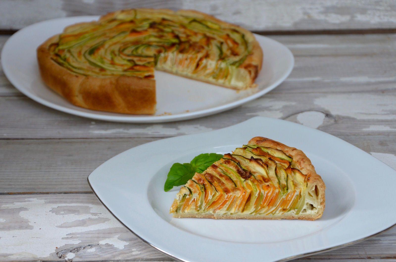 Tarte spirale courgettes carottes